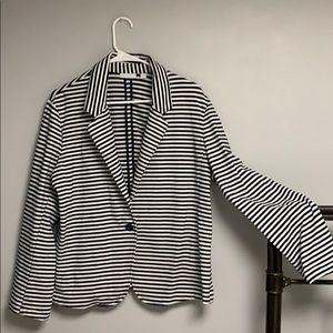 New York & Co Sweatshirt/ Blazer XL Striped